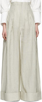 Jacquemus Off-white le Pantalon Arlesien Trousers
