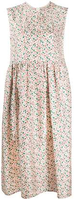 Marni Floral Printed Silk Dress