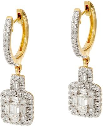 Affinity Diamond Jewelry Affinity 1.00 cttw Round & Emerald Cut DiamondEarrings, 14K
