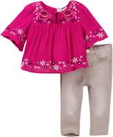 Jessica Simpson Crinkle Viscose with Lace Set (Baby Girls)