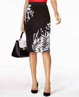 Alfani Floral Scuba Midi Skirt, Created for Macy's