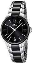 Lotus Women's Quartz Watch with Black Dial Analogue Display and Black Ceramic Bracelet 15934/2