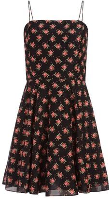 Alice + Olivia Glinda Spaghetti Strap Floral Dress