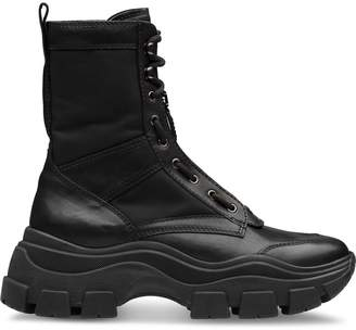Prada Chunky Sole Combat Boots