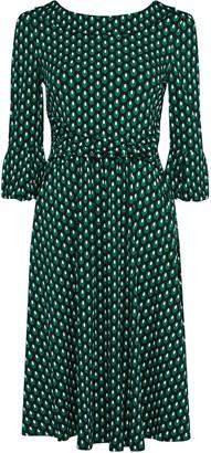 Wallis **Jolie Moi Green Bell Sleeve Dress
