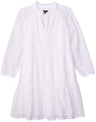J.Crew Rebecca Dress in Eyelet (White) Women's Clothing