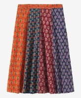 Toast Block Print Cotton Skirt