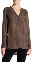 Angie Long Sleeve Henley Blouse