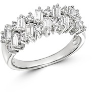 Bloomingdale's Round & Baguette Diamond Band in 14K White Gold, 1.0 ct. t.w. - 100% Exclusive