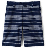 Classic Boys Husky Pull-On Chambray Beach Shorts-Black