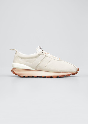 Lanvin Men's JL Suede Runner Sneakers