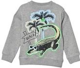 Stella McCartney Grey Sweater with Crocodile Print