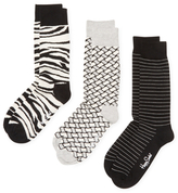 Happy Socks Linear & Animal Print Socks (3 PK)