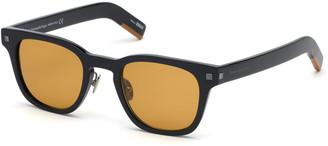 Ermenegildo Zegna Men's Shiny Square Acetate Sunglasses
