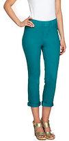 As Is Isaac Mizrahi Live! Petite Knit Denim Crop Jeans