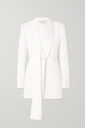 Alexander McQueen Draped Cutout Crepe Blazer - White