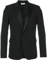 Saint Laurent Iconic Le Smoking jacket - men - Silk/Cotton/Polyester/Wool - 46
