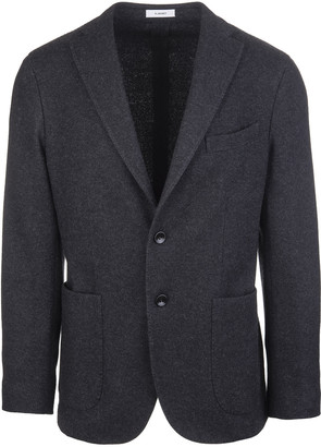 Boglioli Man Anthracite Jacket In Wool Blend