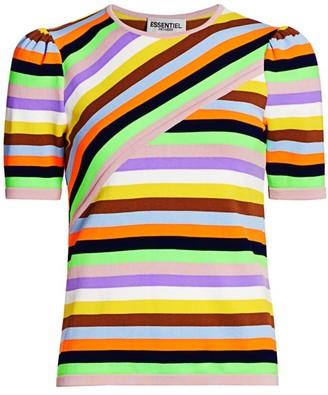 Essentiel Antwerp Mixed Stripe Knit Top