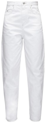 Etoile Isabel Marant Corsy High-rise Tapered-leg Jeans - White
