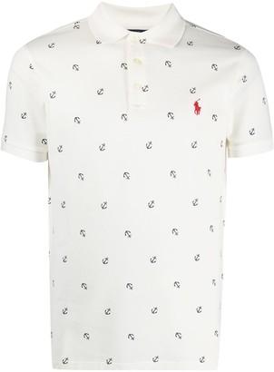 Polo Ralph Lauren Anchor-Print Short-Sleeve Polo Shirt