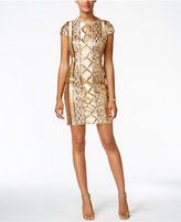 Adrianna Papell Petite Sequined Sheath Dress