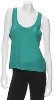 Knit Back Silk Cami: Turquoise