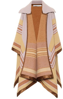 Philosophy di Lorenzo Serafini Striped wool-blend cape