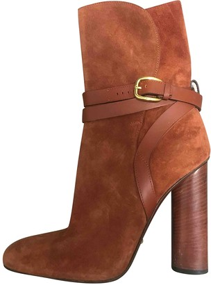Gucci Camel Suede Boots