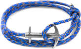 Anchor & Crew ANCHOR & CREW Royal Blue Admiral Anchor Silver And Braided Leather Bracelet