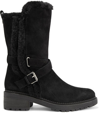 Sam Edelman Jailyn Faux Fur-trimmed Suede Boots