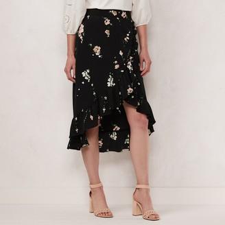 Lauren Conrad Women's Floral Wrap Skirt