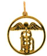 NecklaceObsession 14K Gold M.D. Caduceus Pendant - 21 mm