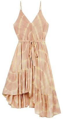Maje Risotype Tie-Dye Asymmetrical Dress