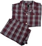 Protocol Woven Plaid Two Piece Pajama Set