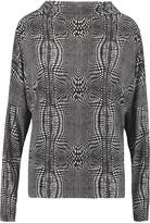 Norma Kamali Draped printed stretch-knit top