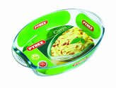 Pyrex Borosilicate Glass Oval Roaster with Easy Grip Handles, 39x27cm