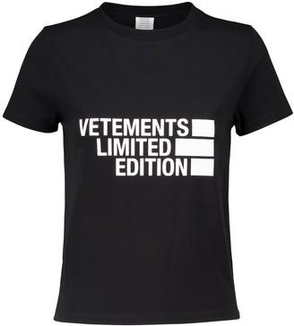 Vetements Logo stretch cotton-jersey T-shirt