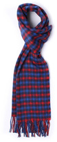 Aquascutum Red Club Check Lambswool Scarf