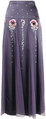 Temperley London Firebird flower embroidery skirt