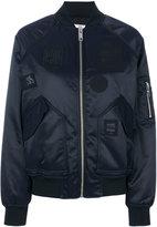 Versus patched bomber jacket - women - Polyamide/Polyester/Acetate - 38