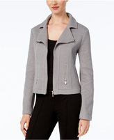 Alfani Textured Knit Moto Jacket, Created for Macy's