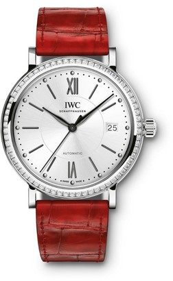 IWC SCHAFFHAUSEN Stainless Steel and Diamond Portofino Automatic Watch 37mm