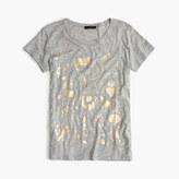 J.Crew Metallic menagerie T-shirt