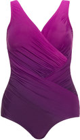 Miraclesuit Plus Size Ombre look draped swimsuit