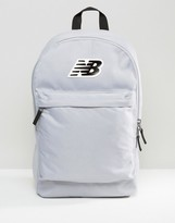 New Balance Classic Logo Backpack In Gray