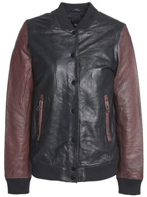Muu Baa Muubaa Two-tone Leather Bomber Jacket