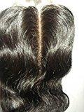 "Wholesale Mid-Part Lace Front Top Closure 10"" Brazilian Virgin Remy Hair Body Wave 55 Queen Hair colour #1b"