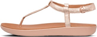 FitFlop Tia Metallic Leather Back-Strap Sandals