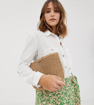 New Look linen shirt in white